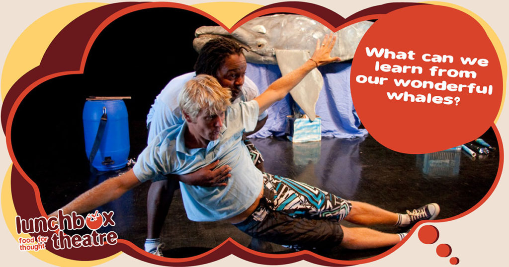 How can Lunchbox Theatre's Whale Show help educate children about marine conservation?